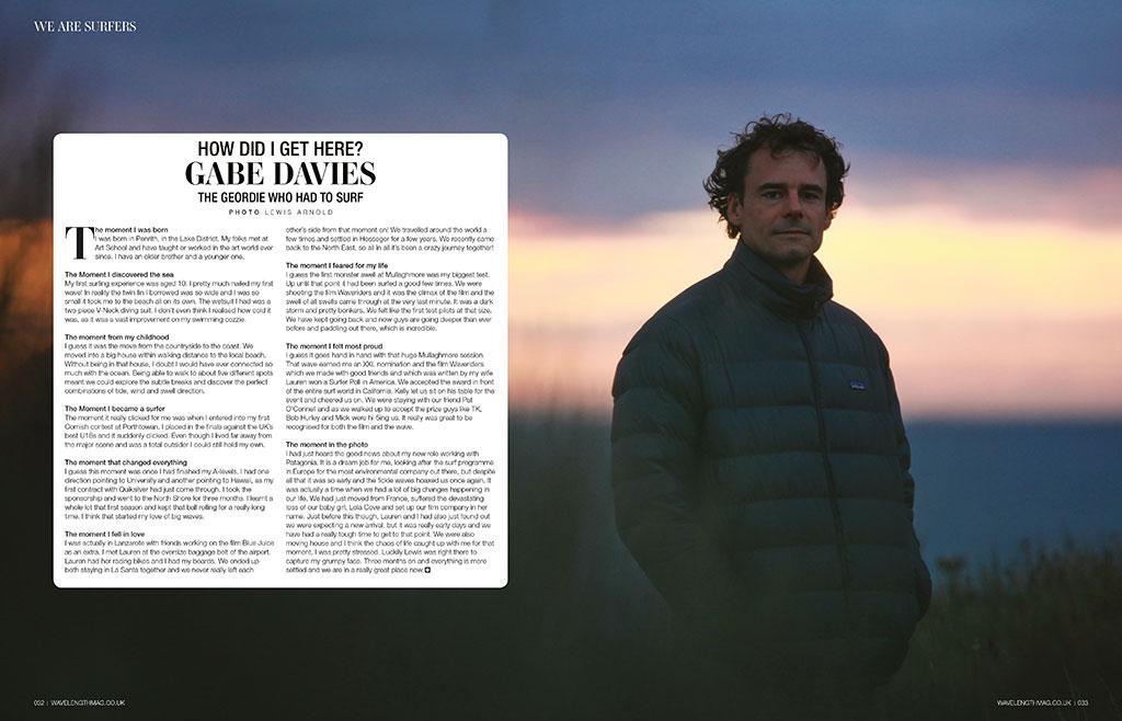 How Did I Get Here? Geordie surfing legend Gabe Davies