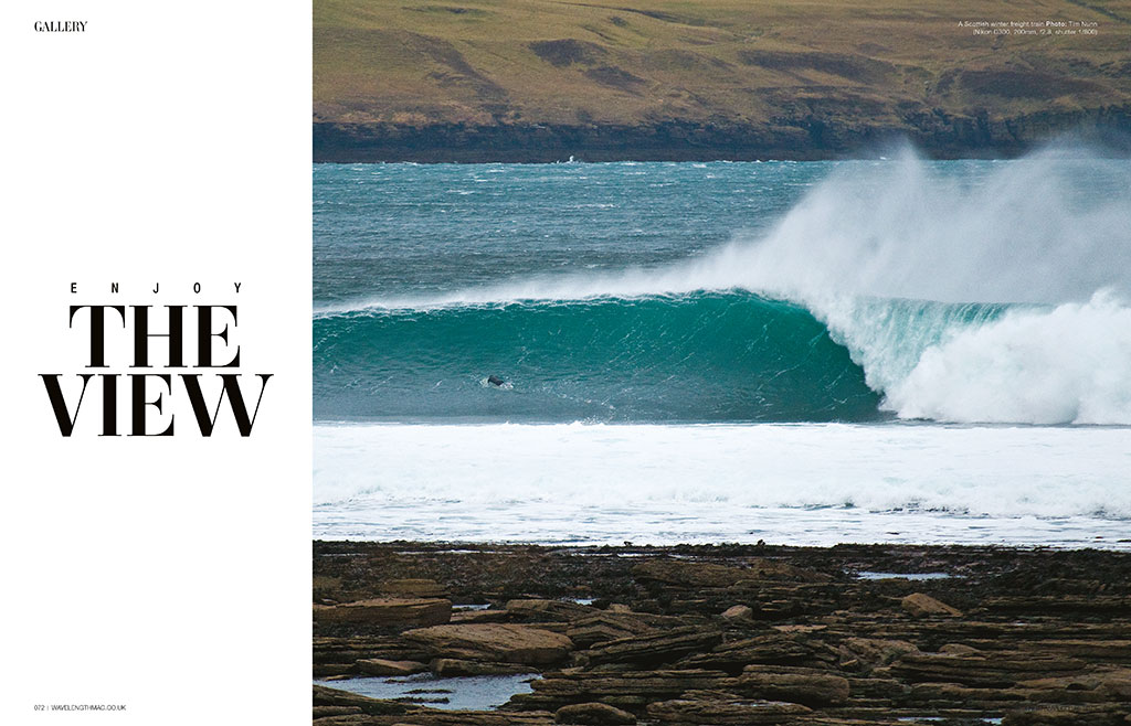 Enjoy The View, cold water surfing gallery