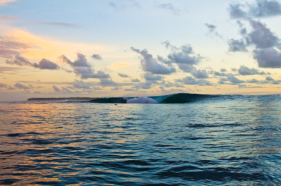 You just have to keep paddling back out and getting hosed until the sun goes down.