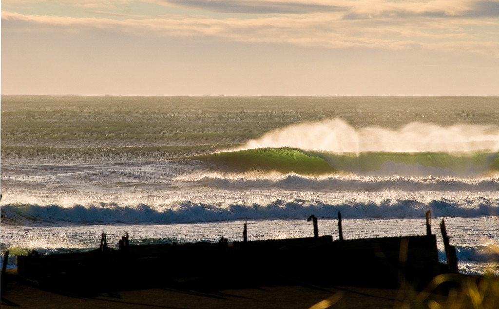 Stacked up and empty, but shifty with an extremely long paddle out in absolutely frigid conditions, looks good though.