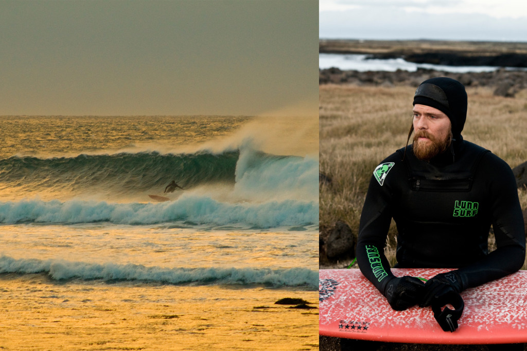 Norwegian surfer Torger Svindland joined us for part of the mission as well, well used to the cold coming from the North Sea town of Stavnager.