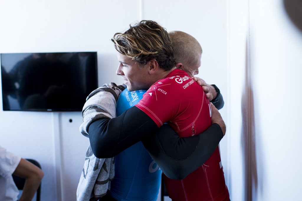 Julian Wilson and Mick Fanning