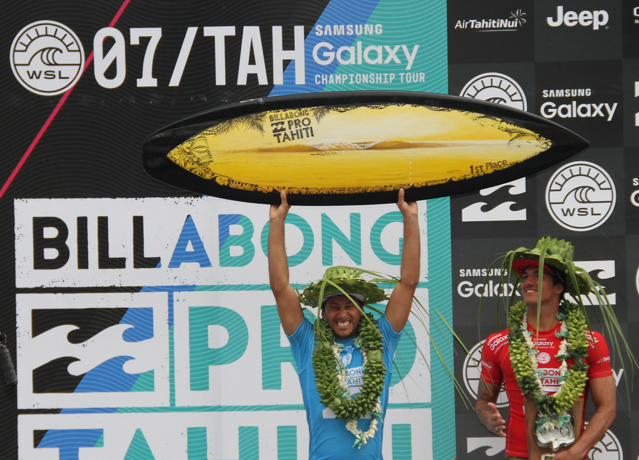 Flores won by defeating reigning WSL World Champion and defending event winner Gabriel Medina