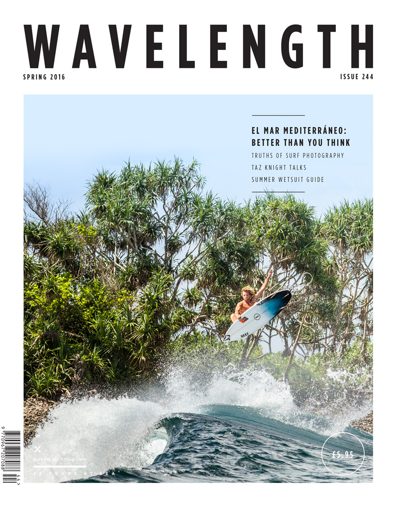 Harry making the cover of the previous issue with a giant slob at cobblestones in Indo. Photo Vince Timson
