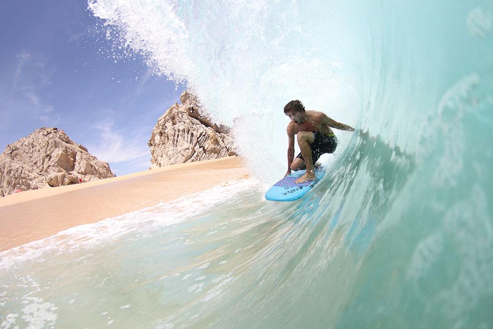 Blair Conklin riding a Catch board