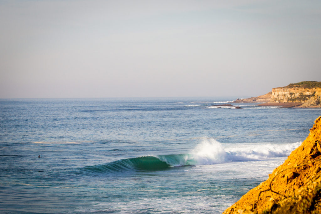 An empty drainer reels off in Ericeira. Photo Luke Gartside