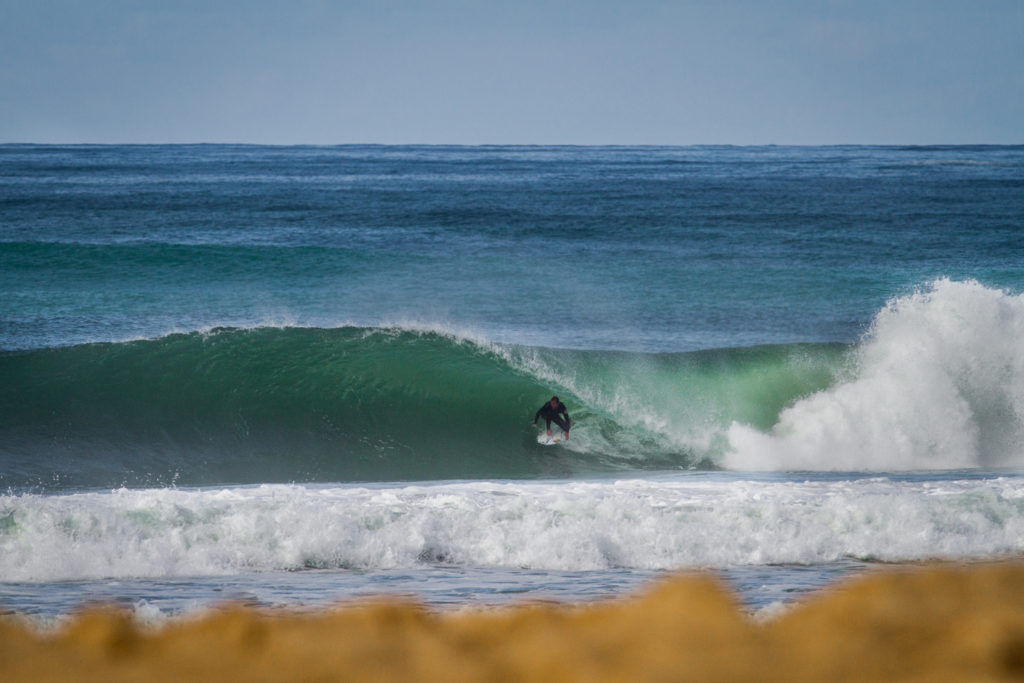 Joan Duru is very at home in hollow beach breaks, on both his fore and backhands. Photo Luke Gartside