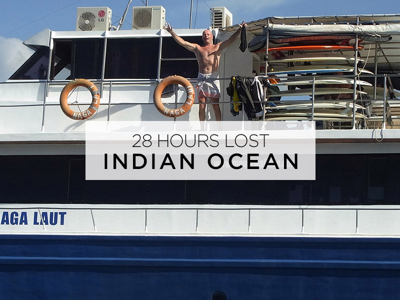 28 hours lost in the indian ocean