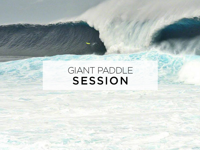 giant paddle session