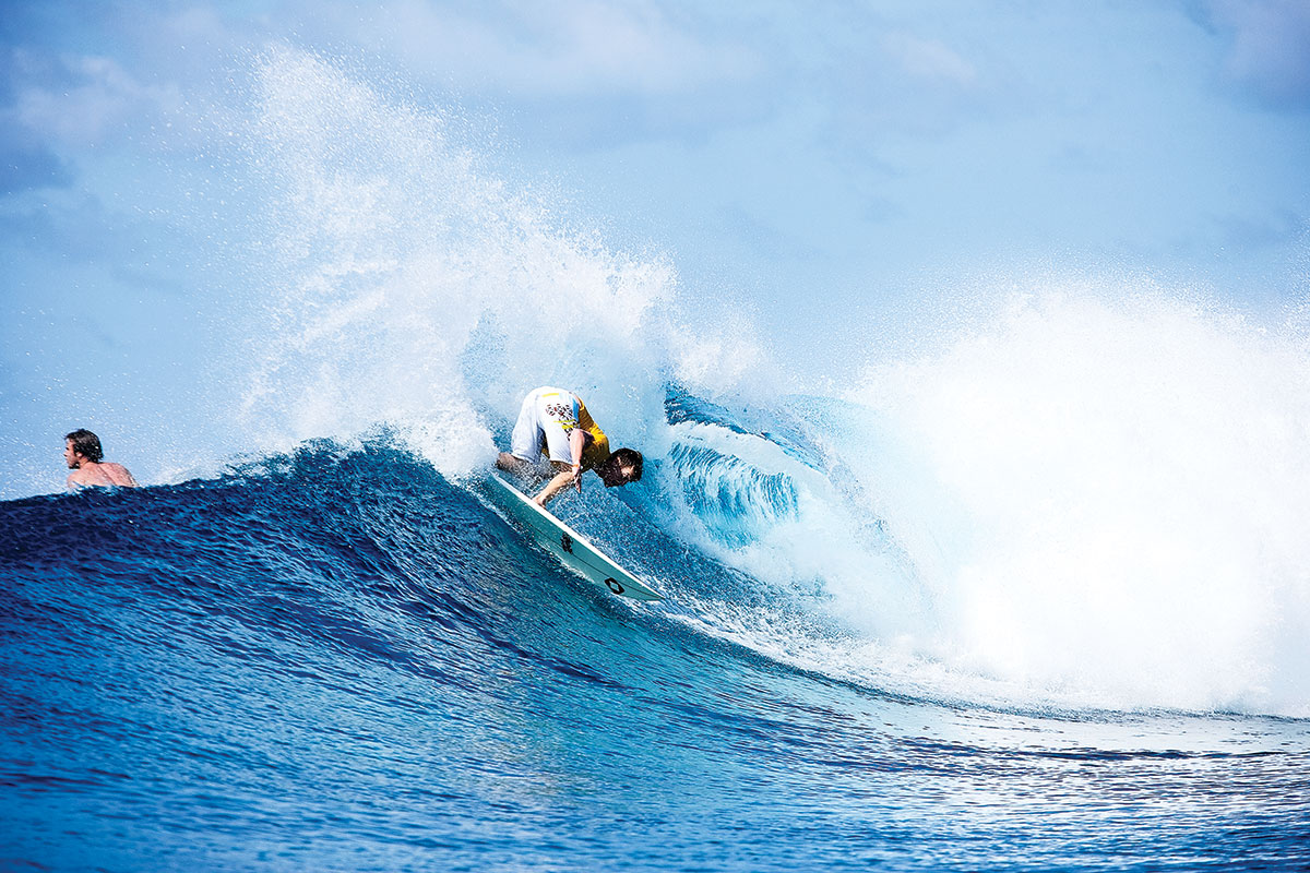 Reuben Pierce is probably the most drug and alcohol-free surfer around. Clean as a whistle in the Maldives Photo: Shield