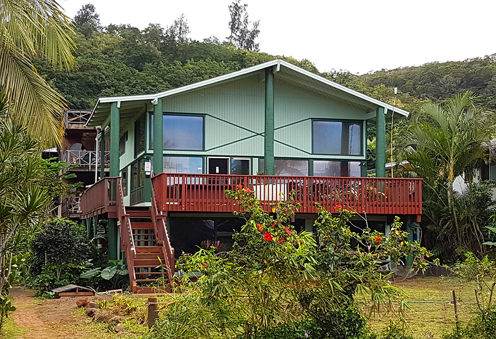 The backpackers Hostel in Pupukea was established by famous big wave surfer, Mark Foo.