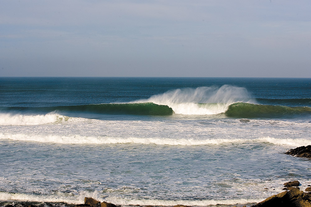 A summer swell pumping through at North Fistral, one good reason to go camping in Cornwall this summer Photo: Ben Selway