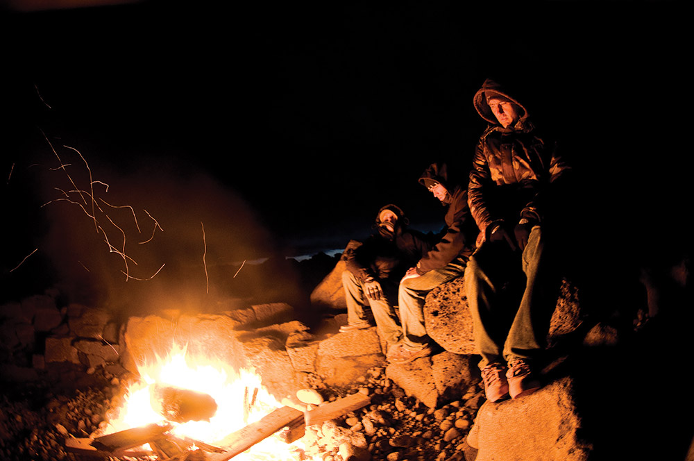The camp fire, mans primal fascination with fire Photo: Tim Nunn