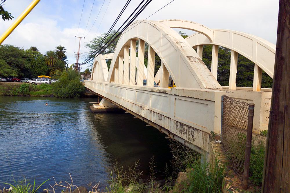 Hawaii's famous Rainbow Bridge