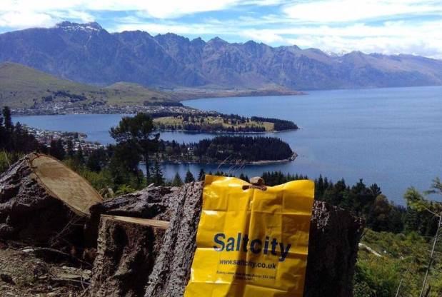 A Salt City bag in Queenstown, New Zealand