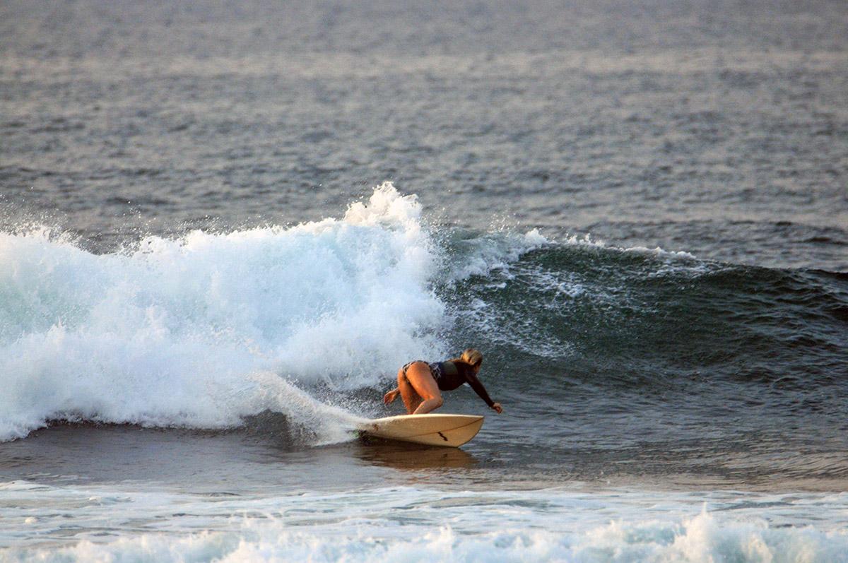 Jenny jones surfing