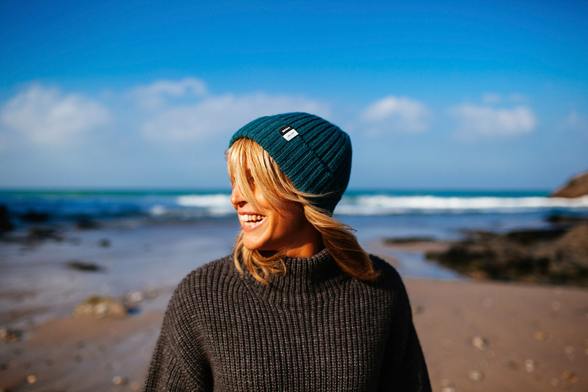 Jenny joined forces with Finisterre last year to launch the JJ Beanie