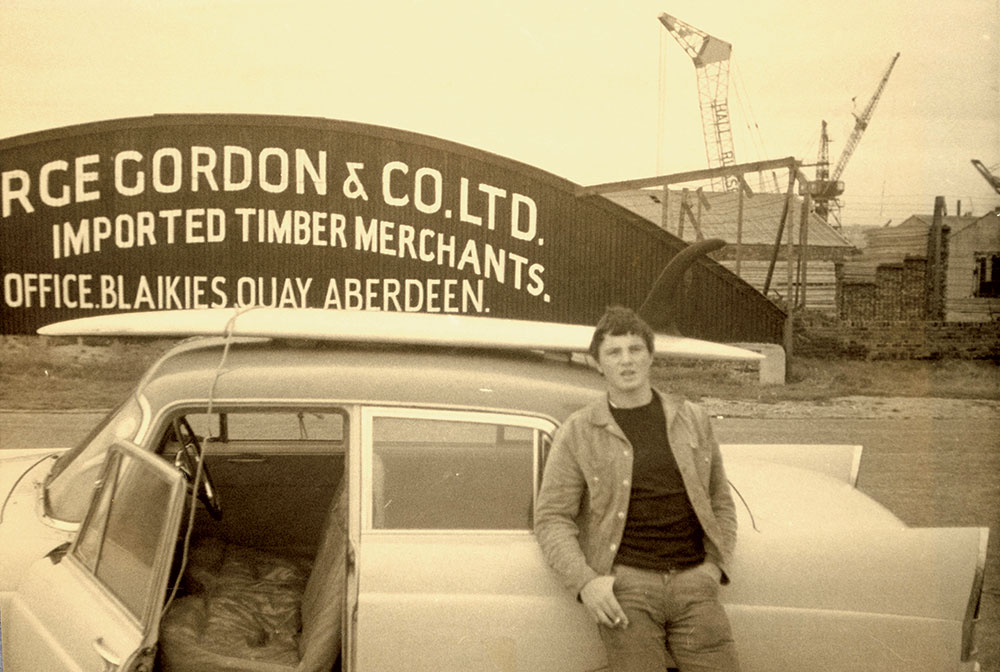 Tris Cokes in Aberdeen. Image: Museum of British Surfing
