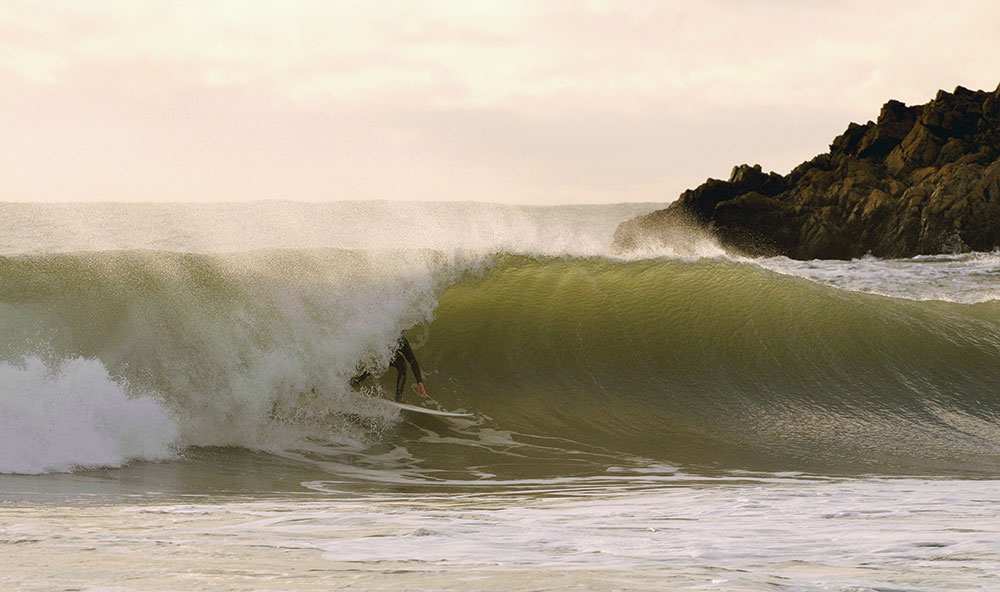 Chris Rigby pulling in; The Pole. Image Dean James
