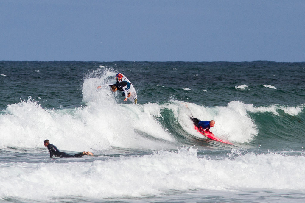 Oli Adams doing an air as a learner surfer drops in