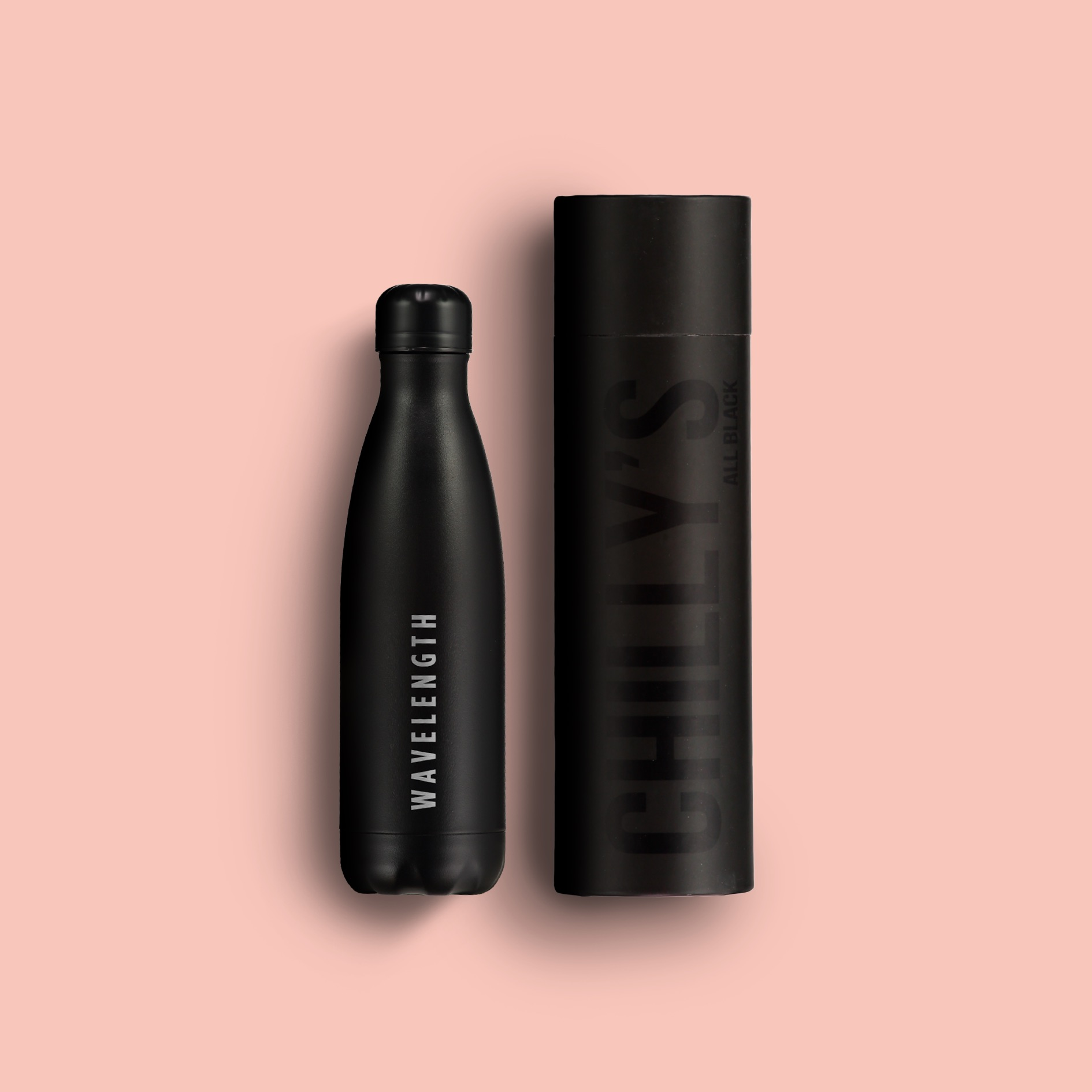 Wavelength x Chilly's reusable water bottle