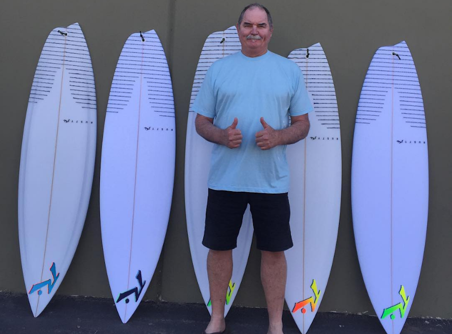 Shaper Rusty and Josh Kerr's asymmetrical quiver for Teahupoo